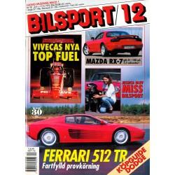 Bilsport nr 12  1992